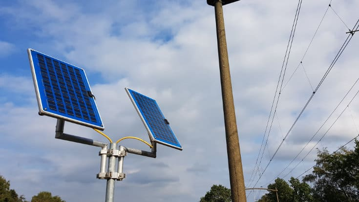 Solar panels for more sustainability and safety