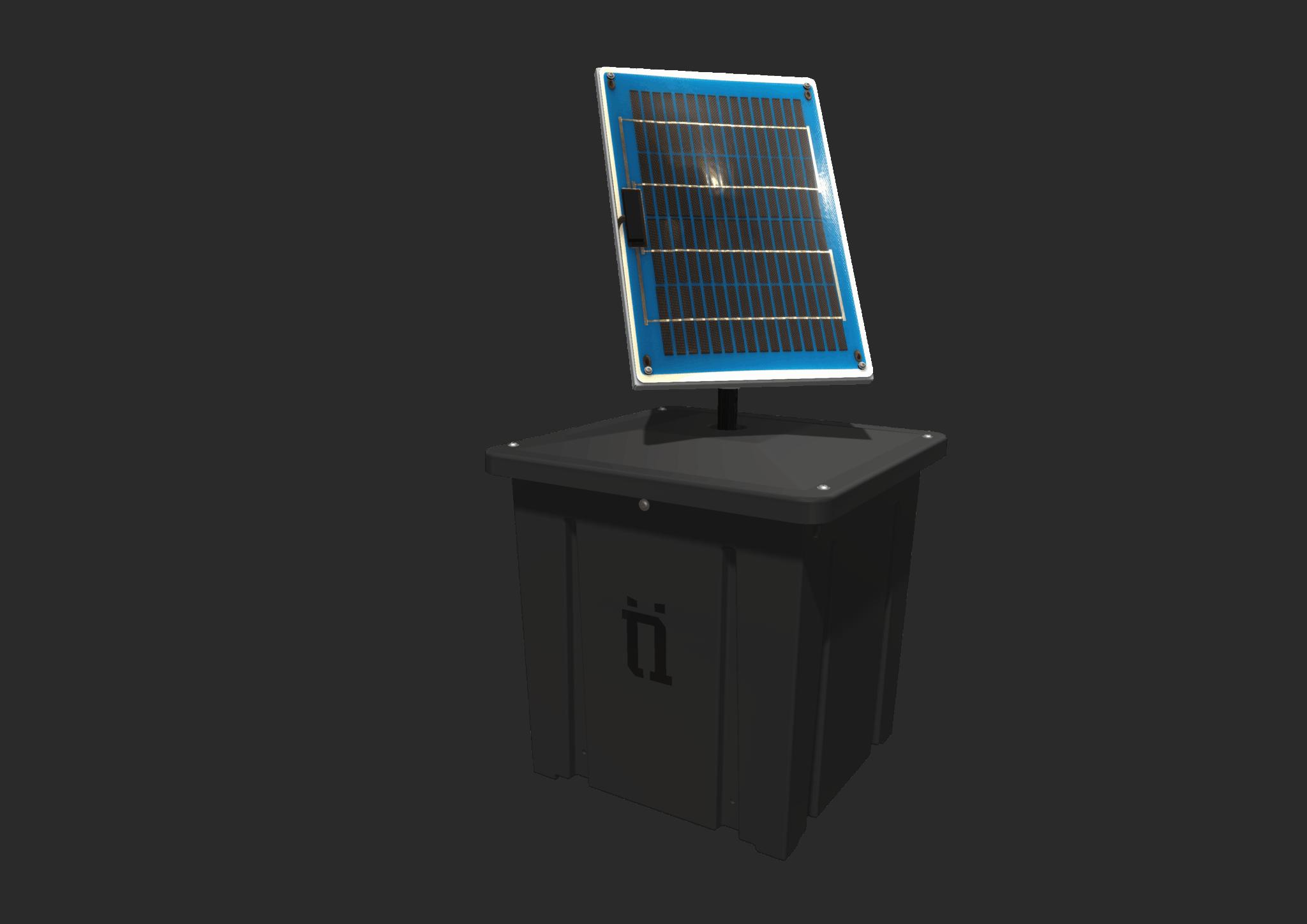 BBX 3000 Ballast Box solar panel railway