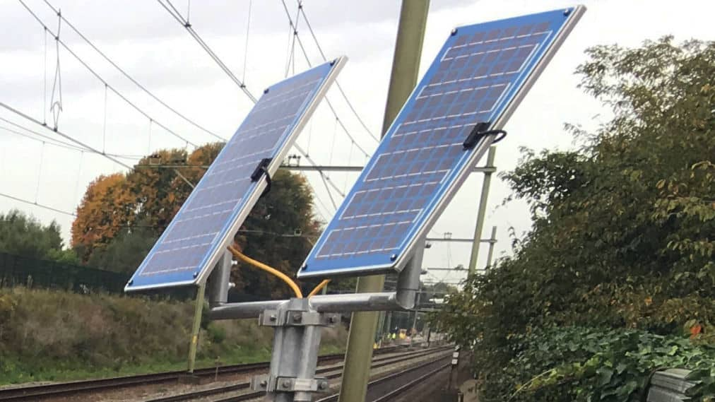 Solar panel railway